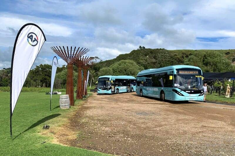 ADL delivers electric buses to Auckland's Waiheke Island and renews New Zealand partnership