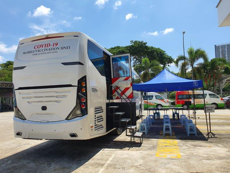 Terus Maju Services Sdn Bhd (TMS) converts buses into mobile vaccination centres
